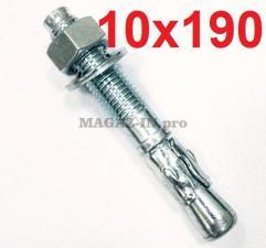 оцикнованный анкер клиновой 10х190 для бетона
