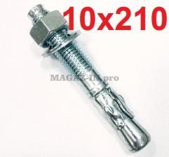 анкер клиновой оцинкованный для бетона 10х210