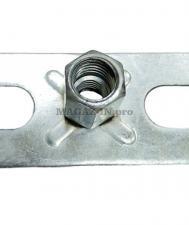 пластина опорная с комбинированной гайкой м8/м10 для резьбовой шпильки при подвешивании вентиляции