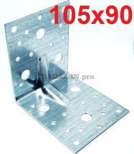 фотография крепежного уголка 105х105х90 толщина 2 мм
