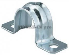 Скоба металлическая двухлапковая 21-22мм