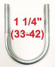 """хомут-скоба U образный 1 1/4"""" с метрической резьбой м8"""