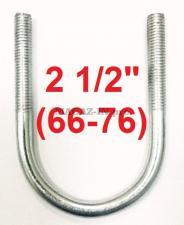 скоба-хомут U образная 2 1/2 с метрической резьбой м10