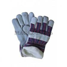 перчатки комбинированные спилковые утепленный вариант