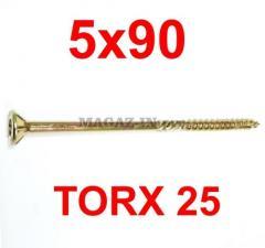 саморез конструкционный по дереву TORX 5х90
