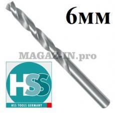 Сверло по металлу 6 мм DIN 338 HSS-G HSS-Tools (Германия)