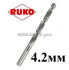 Сверло по металлу 4,2 мм DIN338 HSS-G Ruko (Германия)