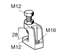 балочный лучевой зажим для резьбовой шпильки м16