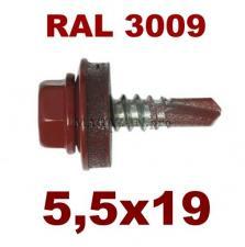 Цвет RAL 3009 оксид-красный