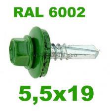 Цвет RAL 6002 лиственно-зеленый