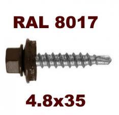 Цвет RAL 8017 шоколадно-коричневый