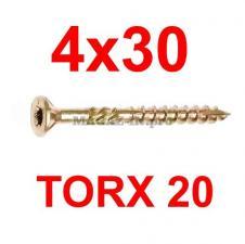 саморез конструкционный по дереву TORX 4х30