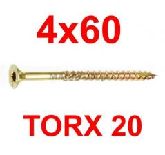 саморез конструкционный по дереву TORX 4х60