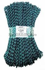 шнур полипропиленовый плетеный 4 мм 16 прядный с сердечником