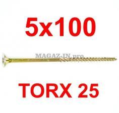 саморез конструкционный по дереву TORX 5х100