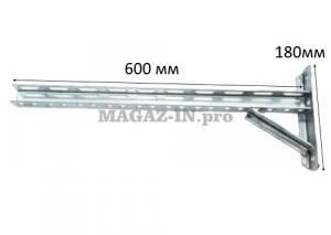 консольный кронштейн п образный 600х180 оцинкованный