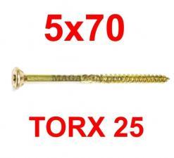 саморез конструкционный по дереву TORX 5х70