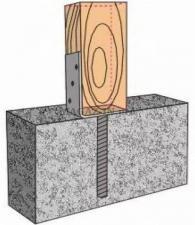 Анкерное основание колонны бруса тип U 100х325х120