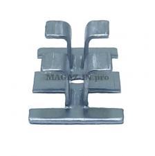крепеж для террасной доски ДПК и декинга прямой тип из нержавеющей стали под паз 8 мм