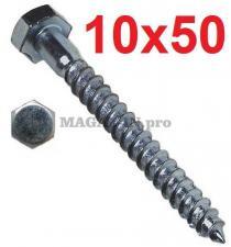 Болт сантехнический оцинк. DIN 571 10х 50
