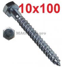 Болт сантехнический DIN 571 10х100