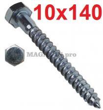 Болт сантехнический DIN 571 10х140