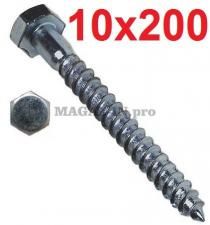 Болт сантехнический оцинк. DIN 571 10х200