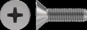 Винт оцинк. потай DIN 965  М 3х25