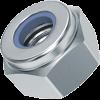 гайка с пластиковым кольцом 6 мм самоконтрящаяся